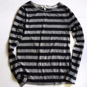 Victoria's Secret Striped Gray Long Sleeve Shirt